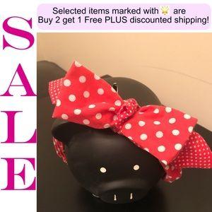 🌟 Sale!!  Red & White Polka Dots Headband